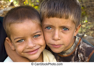 Best Friends - Two good friends with beautiful blue eyes