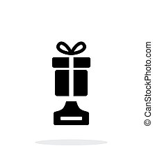 Best gift simple icon on white background. Vector...