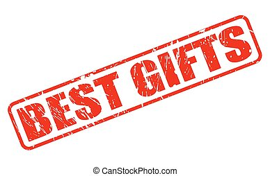 BEST GIFTS red stamp text