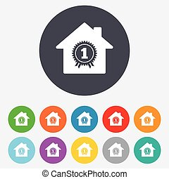 Best home. First place award icon.