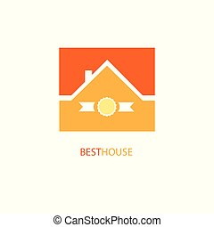 Best House Logo, Vector Illustration