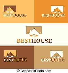 Best house. Real Estate logo. Vector Illustration.