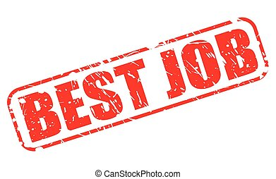 BEST JOB red stamp text