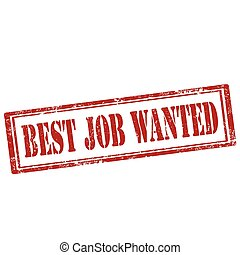 Best Job Wanted-stamp