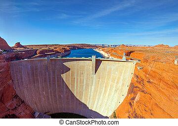 Glen Canyon Dam - located in Arizona