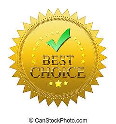 best, keuze, zeehondje, -, vrijstaand, op wit, achtergrond