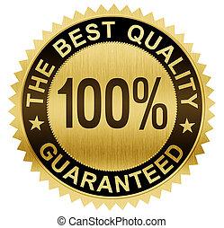best, kwaliteit, guaranteed, gouden zegel, medaille, met,...