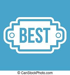 Best label icon white