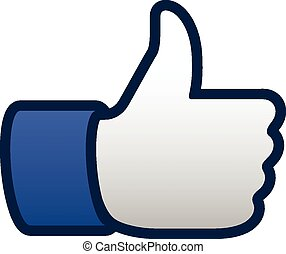 Best like thumbs up symbol icon