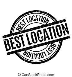 Best Location rubber stamp. Grunge design with dust...