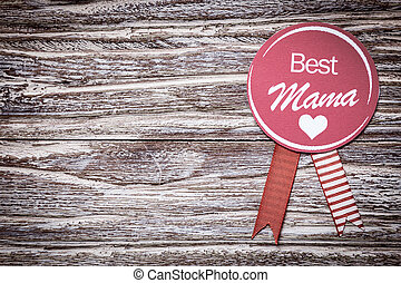 Best Mama mothers day or baby shower - Round purple rosette...