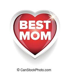 Best Mom vector heart