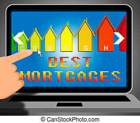 Best Mortgage Representing Real Estate 3d Illustration -...