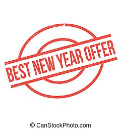 Best New Year Offer rubber stamp