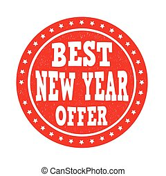 Best New Year offer stamp