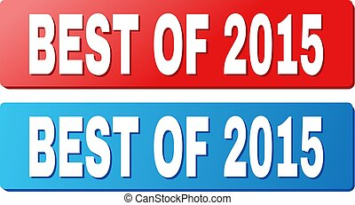 BEST OF 2015 Text on Blue and Red Rectangle Buttons