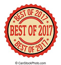 Best of 2017 label or sticker