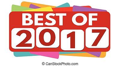 Best of 2017 label or sticker