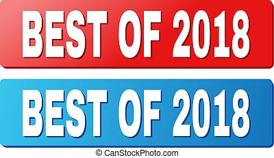 BEST OF 2018 Title on Blue and Red Rectangle Buttons