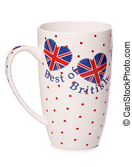 Best of british tea cup cutout