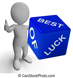 Best Of Luck Dice Represents Gambling And Fortune