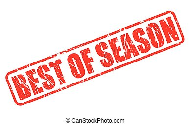 BEST OF SEASON red stamp text