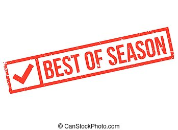 Best Of Season rubber stamp