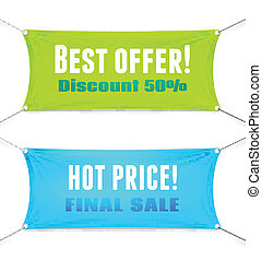 Best Offer and Hot Price vector banners