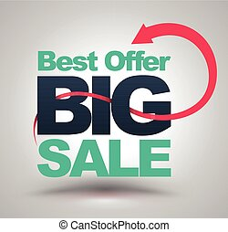 Best offer BIG SALE with red arrow