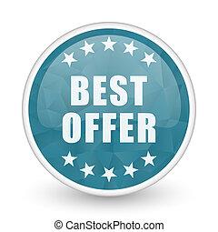 Best offer brillant crystal design round blue web icon.