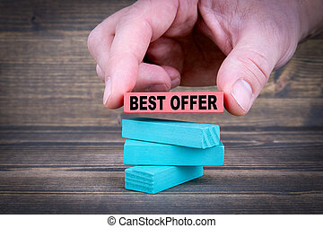 Best offer. Business Concept With Colorful Wooden Blocks