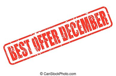BEST OFFER DECEMBER RED STAMP TEXT