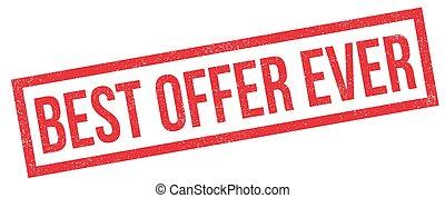 Best Offer Ever rubber stamp