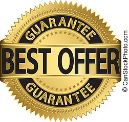 Best offer guarantee golden label,