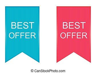 Best Offer Icon Design