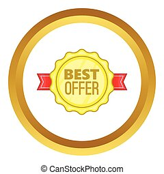 Best offer label vector icon