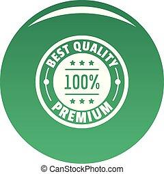 Best offer logo icon vector green