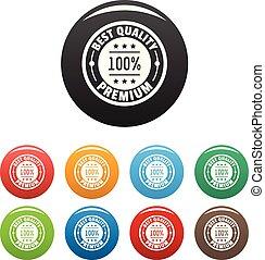 Best offer logo icons set color vector