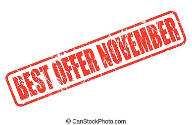 BEST OFFER NOVEMBER RED STAMP TEXT