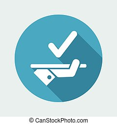 Best offer of services - Vector flat icon