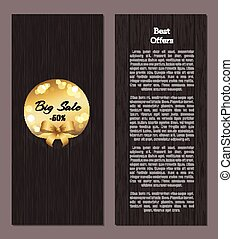 Best Offer Promo Poster with Golden Label Big Sale
