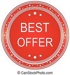 Best Offer Red Vector Icon Design
