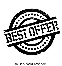 Best Offer rubber stamp