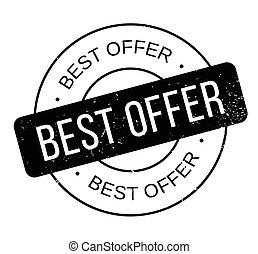 Best Offer rubber stamp