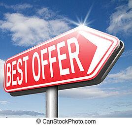 best offer sale