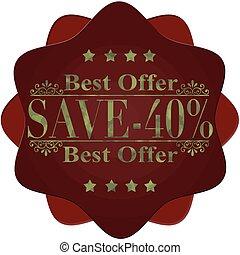 best offer save -40%