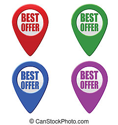 Best offer set of colorful pointers