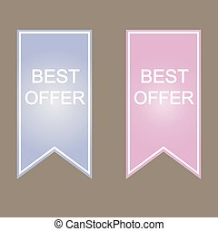 Best offer sign icon.