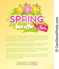 Best Offer Spring Sale Advertisement Daisy Flowers