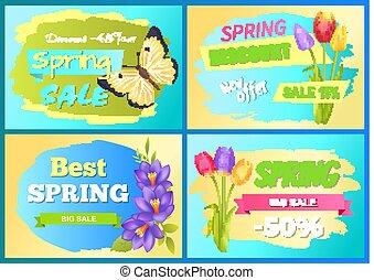 Best Offer Spring Sale Advertisement Poster Flower